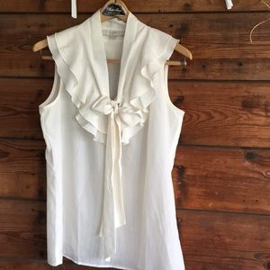 White Sleeveless Blouse from Ann Taylor